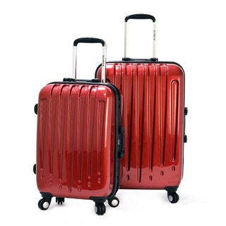 Olympia 'Dynasty' 2-Piece Hardside Spinner Luggage Set w/3-Dial Lock Combination