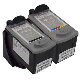 Sophia Global Remanufactured Ink Cartridge Replacement for Canon PG-30 and CL-31 with Ink Level Display (Pack of 2)