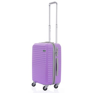 Lojel Groove Zipper 22-inch Hardside Carry On Spinner Upright Suitcase