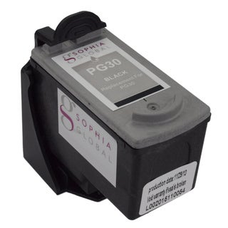 Sophia Global Remanufactured Black Ink Cartridge Replacement for Canon PG-30 with Ink Level Display