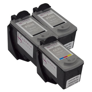 Sophia Global Remanufactured Ink Cartridge Replacement for Canon PG-30 and CL-31 with Ink Level Display (Pack of 3)