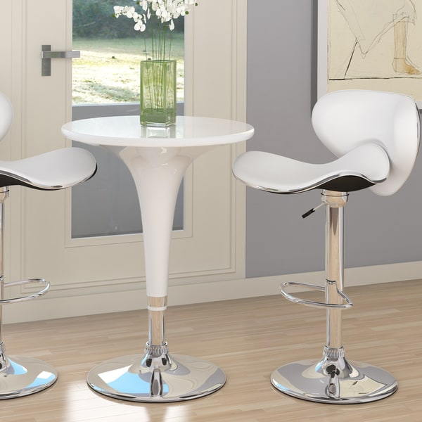 CorLiving Glossy ABS Adjustable Height Bar Table