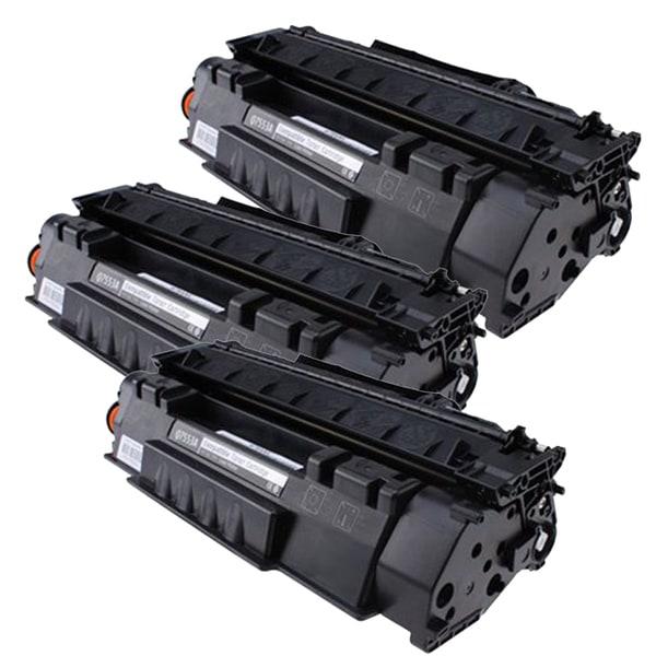HP Q7553A (53A) Compatible Black Laser Toner Cartridge (Pack of 3)