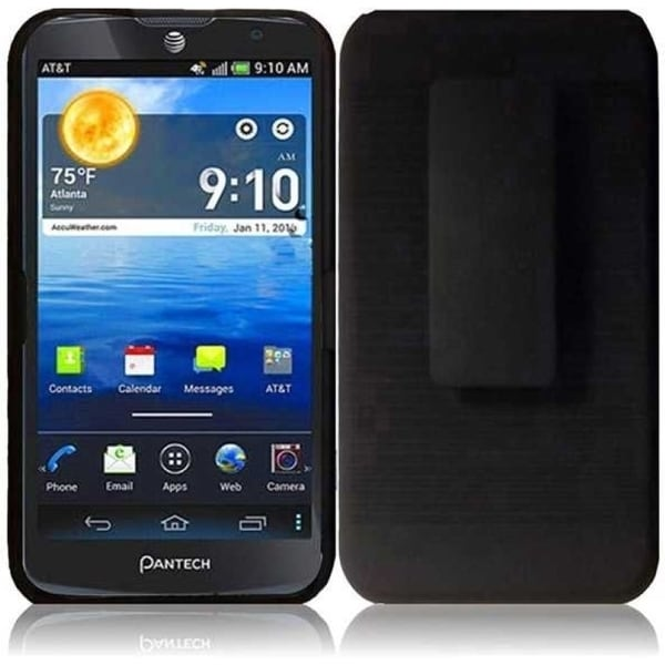 INSTEN Black Holster Phone Case Cover for Pantech Discover P9090