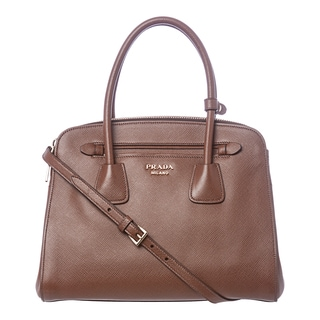 Prada Brown Saffiano Leather Tote Bag