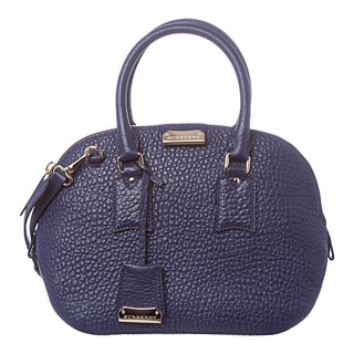 Burberry 'Orchard' Small Regency Blue Grained Leather Satchel