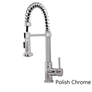 Virtu USA Arvia PSK-1008 Single Handle Kitchen Faucet in Brush Nickel or Polish Chrome