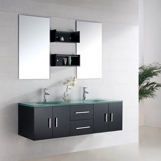 Paige 59-inch Double Sink Bathroom Espresso Vanity
