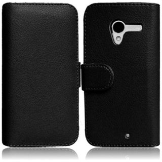 BasAcc Leather Wallet Case with Card Holder for Motorola Moto X