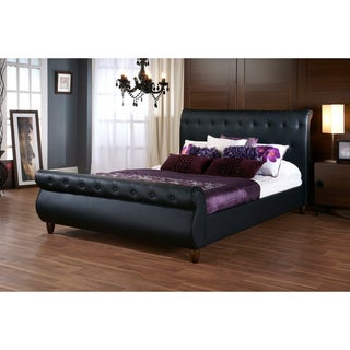 Sleigh bed wood beds overstock shopping comfort in any style