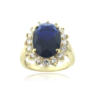 Icz Stonez 18k Gold Over Silver Cubic Zirconia Cocktail Ring