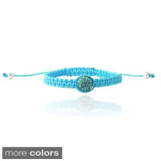 Icz Stonez Crystal Fireball Adjustable Children's Macrame Bracelet
