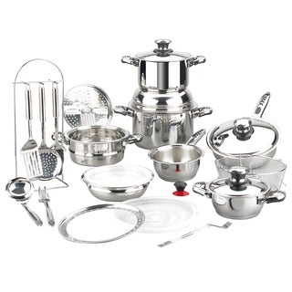 Magefesa Vitaltherm Stainless Steel 24-piece Cookware Set