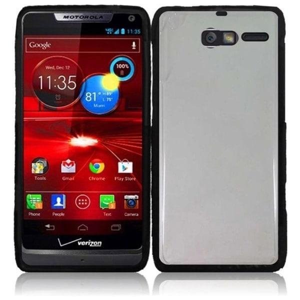 INSTEN Clear/ Black TPU Phone Case Cover for Motorola Droid RAZR M XT907