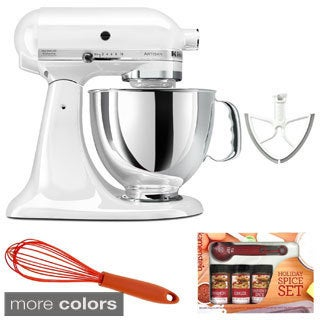 KitchenAid KSM150 5-quart Artisan Stand Mixer with Beater Blade, Spice Set, Whisk **with Cash Rebate**