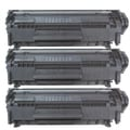 HP Q2612X (HP 12X) Remanufactured Compatible Black Toner Cartridge (Pack of 3)