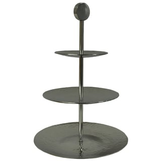 3-tier Hammered Aluminum 20-inch Server