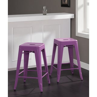 Tabouret 24-inch Orchid Counter Stools (Set of 2)