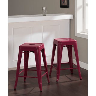 Tabouret 24-inch Razzleberry Counter Stools (Set of 2)