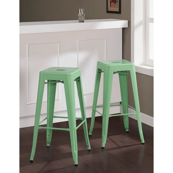 Tabouret 30 Inch Hint Of Mint Bar Stools Set Of 2 15916884