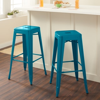 Tabouret 30-inch Peacock Bar Stools (Set of 2)
