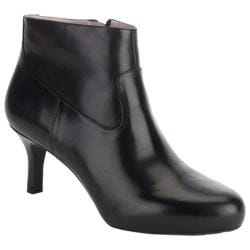 Women's Rockport Seven To 7 Plain Bootie Black Full Grain Leather