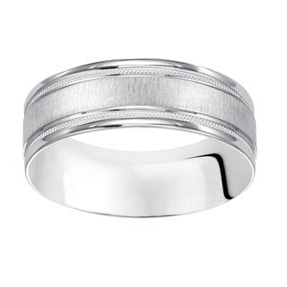 Cambridge Platinum Engraved Band
