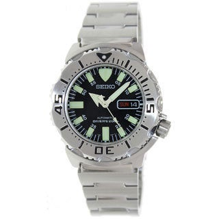 Seiko Men's Automatic Stainless Steel Automatic Black Dial Watch