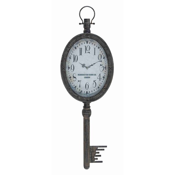 Antique Metal Key Wall Clock