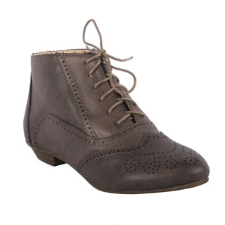 Sweet Beauty Women's 'Robin-10' Oxford Lace-up Ankle Booties