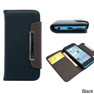 Gearonic  Wallet PU Leather Credit Card Holder Magnetic Flip Case For iPhone 5C