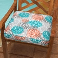 Tropic Bloom 20-inch Indoor/ Outdoor Corded Chair Cushion