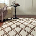 nuLOOM Shadow Lattice Faux Silk Brown Rug (9' x 12'7)