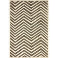 nuLOOM Modern Chevron Brown Faux Silk Rug (9' x 12'7)