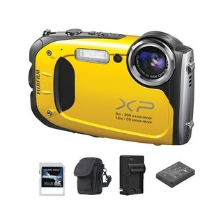 Fujifilm FinePix XP60 Waterproof Yellow Digital Camera 16GB Bundle