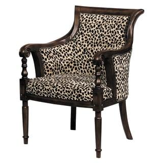Lena Animal Print Barrel Back Chair