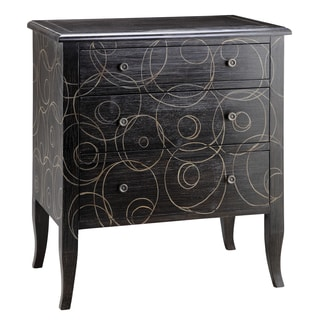 Going in Circles Hand-Painted 3-drawer Chest