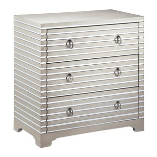 Foxy 3-drawer Mirrored Stripe Accent Chest
