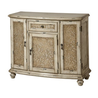 Sheffield 3-door single-drawer Aged White Accent Chest