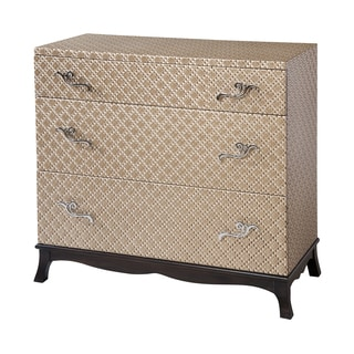 Ansley 3-drawer Gold Textured Accent Chest
