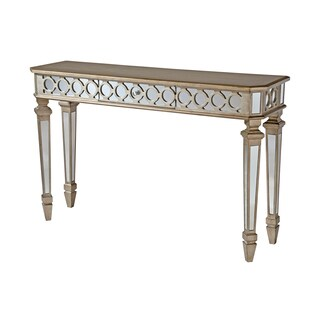 Mikala mirrored console table with center drawer overstock shopping great deals on coffee - Mirrored console table overstock ...
