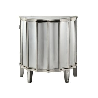 Edie Demilune 2-door Mirrored Cabinet