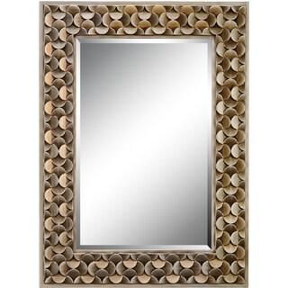 Taber Rectangular Goldtone Petal Frame Mirror