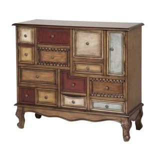 Shelby 14-drawer Multicolored Wood Accent Chest