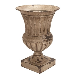 Antique Metal Planter Vase