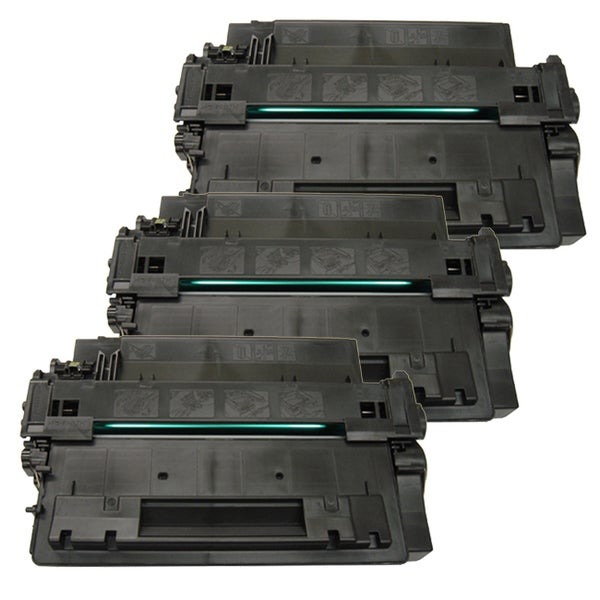 HP CE255A (HP 55A) Remanufactured Compatible Black Toner Cartridge (Pack of 3)