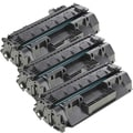 HP CF280A (80A) Remanufactured Compatible Black Toner Cartridge (Pack of 3)