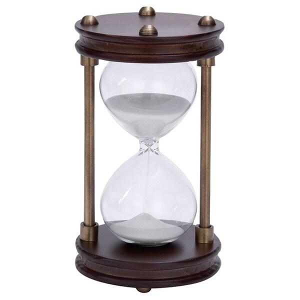Wood/ Metal Framed Glass Sand Timer 12234264