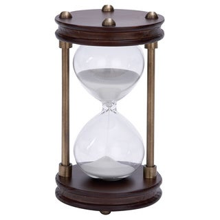 Wood/ Metal Framed Glass Sand Timer