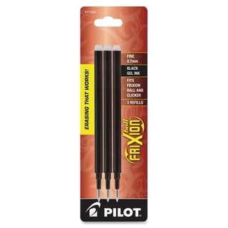 Pilot FriXion Eraseable Gel Ink Pen Fine Point Black Gel Ink Refills (Pack of 3)